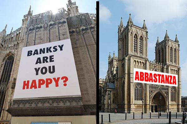 Banksy Duomo Milano